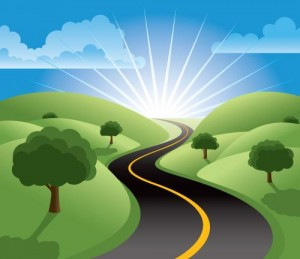 road-sun
