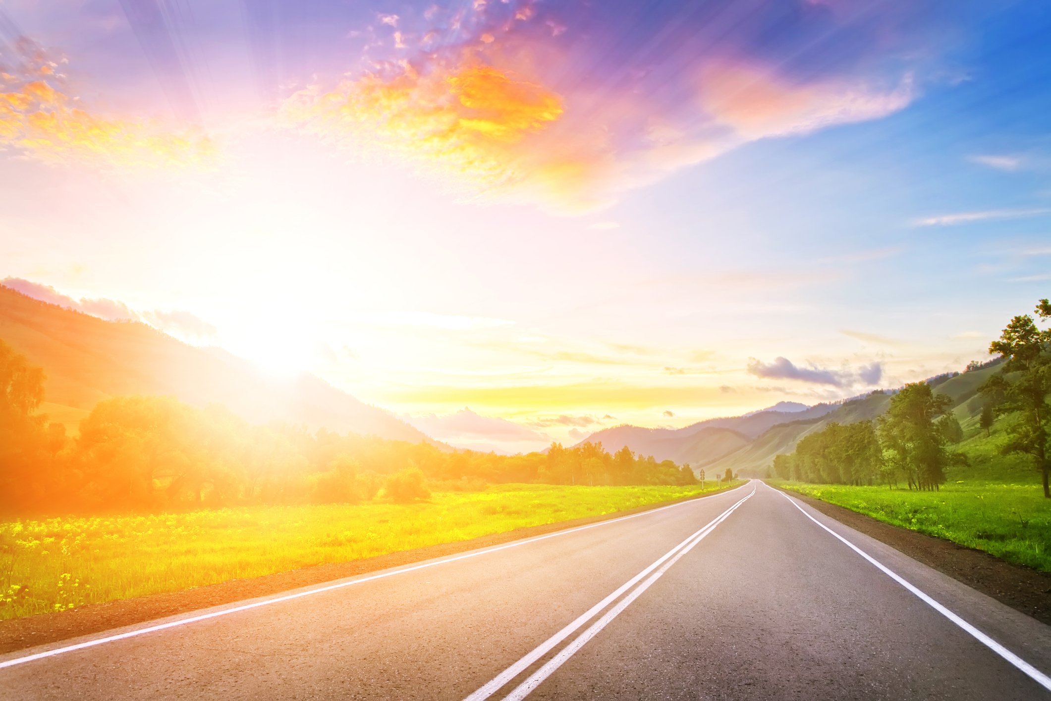 Sunset Road At Mountains Mental Health Recovery